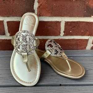 New Tory Burch Embellished Miller Sandal